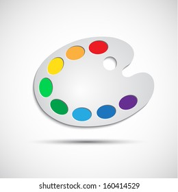 Modern art palette with eight colors, vector illustration