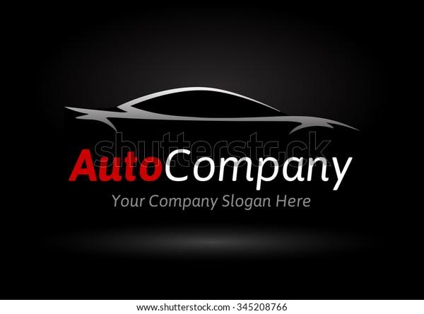 Modern Auto Company Logo Design Concept Stock Vector Royalty Free 345208766