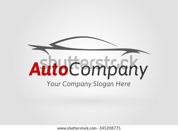 Modern Auto Company Logo Design Concept Stock Vector Royalty Free 345208775