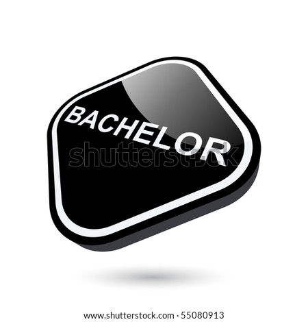 Modern Bachelor Degree Sign Stock Vector Royalty Free 55080913