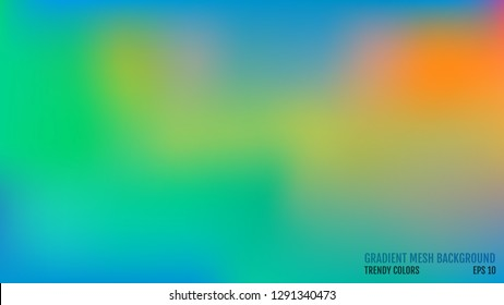 Modern background. Colors transition concept. Gradient mesh. Abstract Cover. Trendy colored Surface. Elegant pattern. Vector illustration.