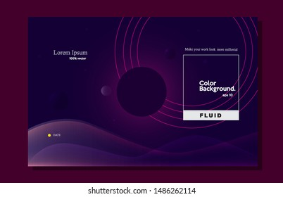 Modern background dark moon. Trendy shape composition eps10 -vector
