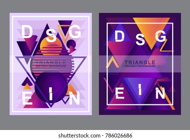 modern background traingle abstract purple creative concept