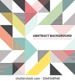 Modern background with triangles and lines. Pattern of geometric colored shapes