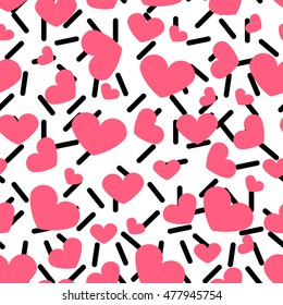 Modern background,Seamless pattern with hearts,