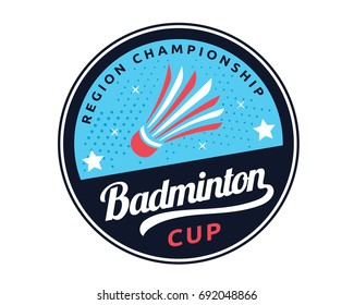 Modern Badminton Badge Logo