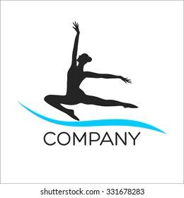 Modern ballerina logo