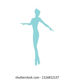 modern ballet dancer, logo icon