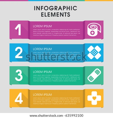 modern bandaid infographic template infographic design stock vector