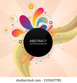 Modern banner with abstract shapes.Vector geometric background.