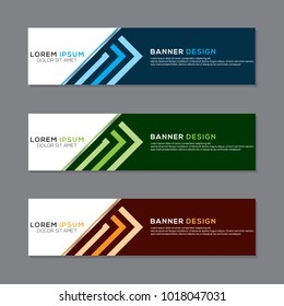 Modern Banner Background Vector Template