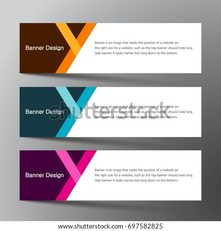 modern banner card design inspiration abstract stock vector royalty