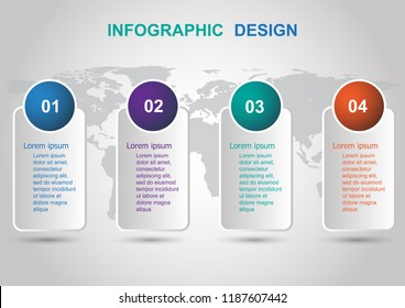 Modern banners infographic design template. Can be used for business step options.