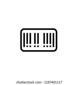 Modern barcode icon