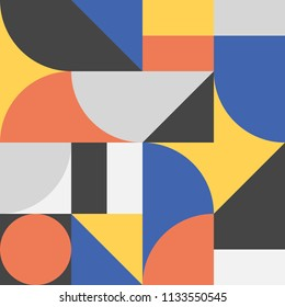 Modern Bauhaus contemporary style pattern from 20th century