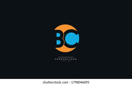 Modern BC Letter Business Logo Design Alphabet Icon Vector Symbol