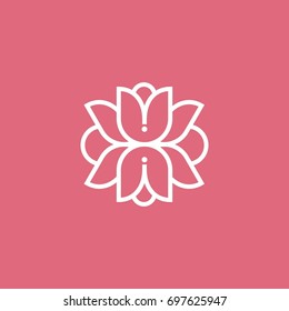 Modern beautiful simple abstract flower