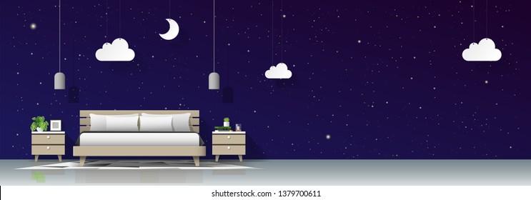 Bedroom Mural Stock Vectors, Images & Vector Art | Shutterstock