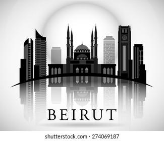 Modern Beirut City Skyline Design. Lebanon