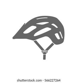 Modern bicycle all mountain, enduro helmet vector icon.