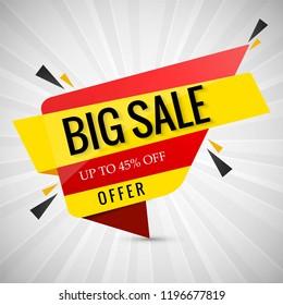 Modern big sale banner design
