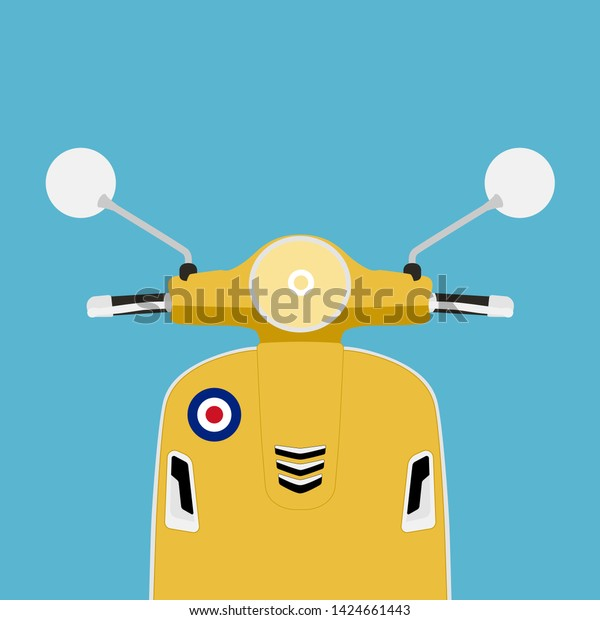 modern big scooter yellow color illustration stock vector royalty free 1424661443 https www shutterstock com image vector modern big scooter yellow color illustration 1424661443