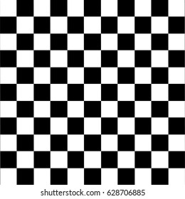 Modern black checkered seamless pattern. Vector illustration