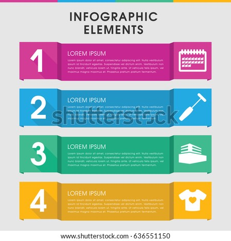 modern blank infographic template infographic design stock vector
