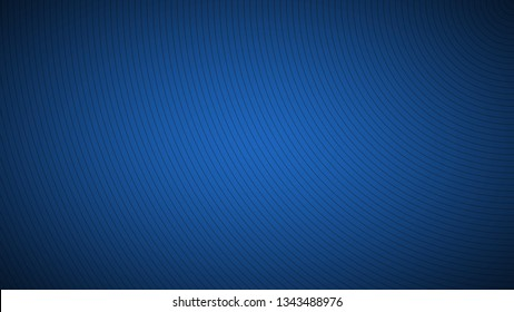 Modern blue abstract background, the look of stainless steel, circular lines on a blue background