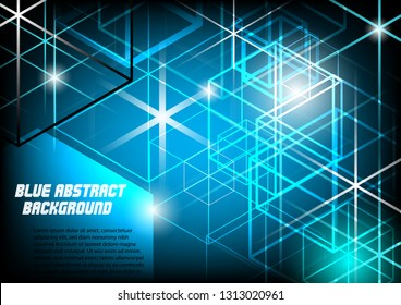 Modern blue abtract background