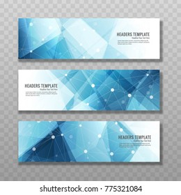 Modern blue banners vector