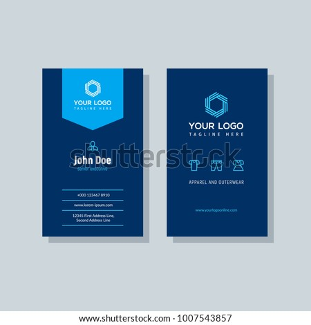 Modern blue business card template vertical stock vector royalty modern blue business card template in vertical design abstract background personal plain design with cheaphphosting Gallery