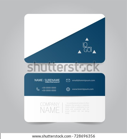 Modern blue business name card template stock vector royalty free modern blue business name card template design wajeb Image collections