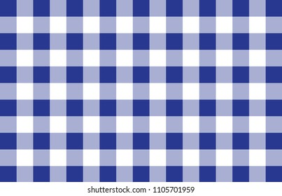 Modern blue check background. Blue plaid texture. Blue pattern. Retro design. Vector eps10