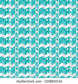 modern blue and cream geometric abstract repeating pattern design with isometric construction geometry shapes for textile, fabric, wallpaper, backgrounds and design templates. pattern swatch at eps.