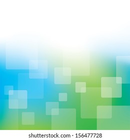 A modern blue and green business background with squares