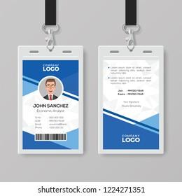 Modern Blue Identity Card Template
