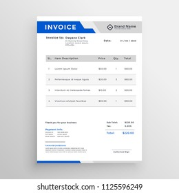 modern invoice template vector design stock vector royalty free