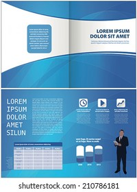 modern blue layout corporate template