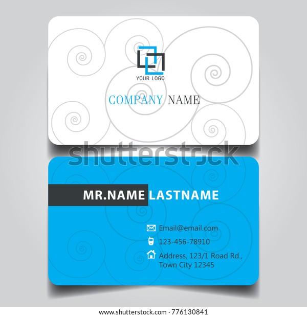 Modern Blue White Black Theme Creative Stock Vector (Royalty Free