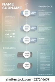 modern blur resume temlate