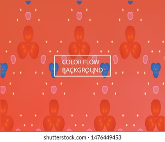 Modern blurry smooth background. Light backdrop with simple different flowers. Vector illustration layout. Red and green colorful template for poster, presentation and banner.
