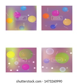 Modern blurry smooth background. Vector illustration texture. Vibrant backdrop with simple muffled colors. Orange fluid colorful shapes for poster, presentation and banner.