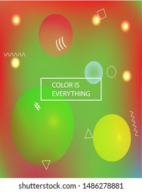 Modern blurry smooth background. Vibrant backdrop with simple muffled colors. Vector illustration pastel. Green fluid colorful shapes for poster, presentation and banner.