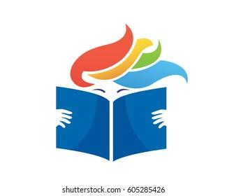 Modern Book Logo - Flaming Hair Book Publisher
