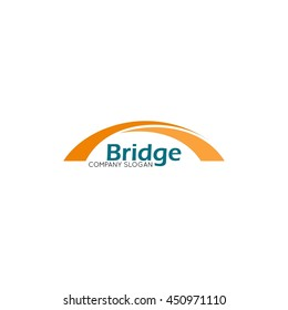 Modern bridge connection logo template