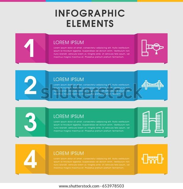 Modern Bridge Infographic Template Infographic Design Stock