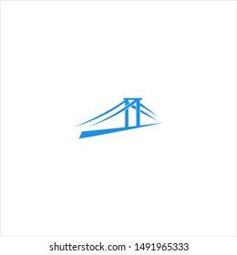 modern bridge logo design concept