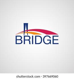 Modern Bridge Logo Design Element