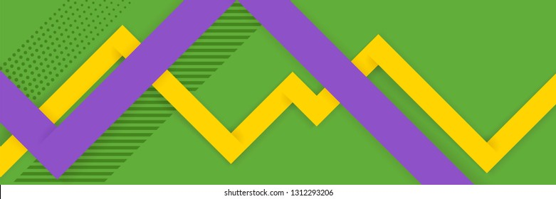 Modern bright abstract background for   Carnival Mardi Gras. Festive carnaval background with space for text. Background for advertising, posters, sales in traditional colors of the Mardi Gras.